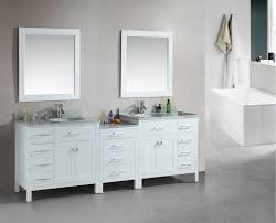 Bathroom Vanity And Tower Set by Adorna 92 Inch Transitional Double Sink Bathroom Vanity White Finish