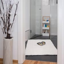 hochflor badmatte badteppich baumwolle badezimmer läufer