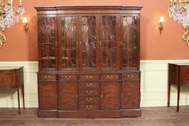 traditional high end mahogany china cabinet