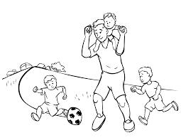 Free Coloring Sheets Football Fun