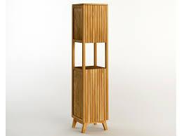 ritan hochschrank aus teakholz höhe 185cm badmöbel kollektion