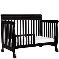 davinci kalani 4 in 1 convertible crib with toddler rail ebony