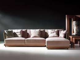 canap bois et tissu canapé d angle jaiphur canapé tissu et bois