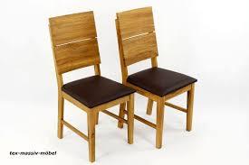 esszimmerstühle stühle 2er massivholz eiche geölt leo leder braun