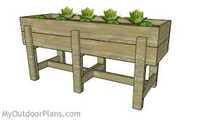 Waist High Raised Garden Bed Plans MyOutdoorPlans