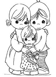 Family Thanksgiving Coloring Pages For Girls Precious Moments