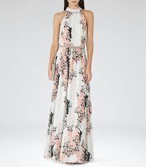 bea tops floral print maxi dress reiss and summer wedding