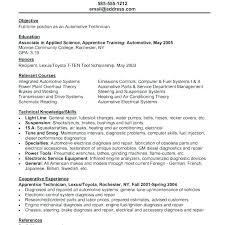 Entry Level Automotive Technician Resume Objective