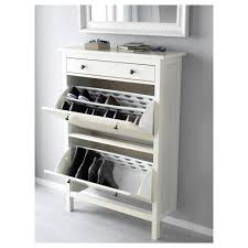Bissa Shoe Cabinet Manual by Brusali Shoe Cabinet With 3 Compartments White Ikea Pertaining To