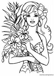 Pin Barbie Clipart Printable Coloring Page 15