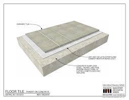 06 130 0203 floor tile thinset on concrete international