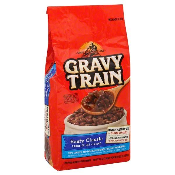 Gravy Train Dry Dog Food - Beefy Classic, 3.5lb