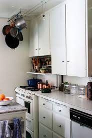 Stupendous Small Old Kitchen Cabinets That Using White Paint Colors Alongside Ball Knobs Polish Chrome For