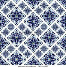 portuguese azulejo tiles blue white gorgeous stock vector