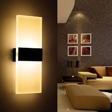2er pack 12w wandle led wandleuchten für schlafzimmer wohnzimmer treppenhaus und lounges 29 cm led flurle in acryl ce