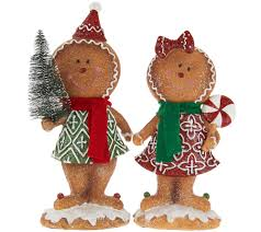 Qvc Christmas Tree Topper by 2 Piece Gingerbread Boy U0026 By Valerie Gingerbread Valerie