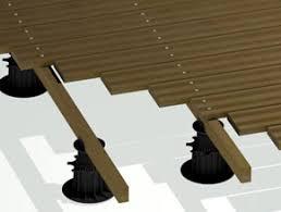 plot reglable pour terrasse bois terrasse en bois la pose sur plots pvc réglables guide