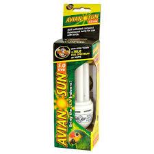 Self Ballasted Lamp Bulb by Zoo Med Aviansun Compact Fluorescent Bulb 26 Watt Bird