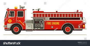 Fire Engine Truck Emergency Vehicle Modern Stock Vector (Royalty ...