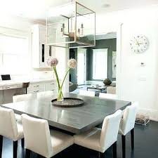 gray square dining table with white dining chairs ideas for