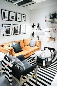 ikea wohnzimmer schwarz weiss trend bow