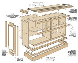 low cherry bookcase woodsmith plans