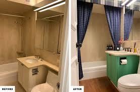 see how an decor editor reved rental bathroom