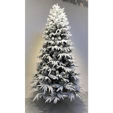 4 Ft Pre Lit Slim Christmas Tree by The Pre Lit Snowy Alpine Tree Warm White 4ft To 8ft