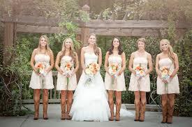 Bride In Cowboy Boots Bridesmaids Rustic