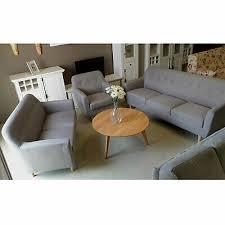 sofa garnitur linon 3 2 1 set 3 teilig mit leinenstoff