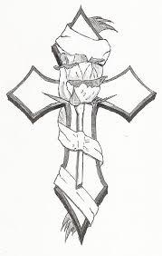 Classic Tribal Cross Pattern Tattoo Designs