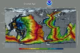 Where Does Seafloor Spreading Take Place by Ocean Crust Ages