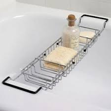 Cheviot Bathtub Caddy With Reading Rack expandable bathtub caddy foter