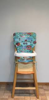 Eddie Bauer Old McDonald Wooden High Chair Pad, Cotton ... Fniture Bar Stool Seats Only Replacement Seat Wood Chairs High Chair Cushion For Wooden Cushions Wipe Clean Oilcloth Midnight Blue Mocka Original Highchair Keekaroo Height Right Kids Age 3 Years And Up To A 250 Lbs High Chairs Hedstrom Vintage Convertible Pads Chair Pad Paisley On Sage Eddie Bauer Baby Accessory Replacement Nursery Decor Feeding For Jenny Lind Decoration Brown Faux Leather Back Ding Black Smitten Baby Swing It Restaurant Cover
