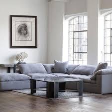 100 Andy Martin Associates Andrew Truman Sectional Sofa In Grey Linen