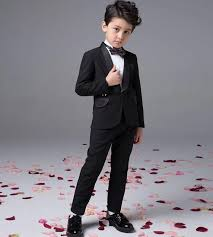 Fashion Baby Boy Kids Blazers Suits Prom Party Formal White Clothing Wedding Casual Spring Summer Costume Flower Children Outfit A Suit The