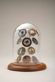 Military Coin Display Case Challenge Holder