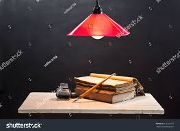 Smoking Lamp Is Lighted by Still Life Photography Opening Old Book Stock Photo 219552016