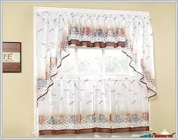 White Kitchen Curtains With Sunflowers by Sunflower Kitchen Curtains Valances Home Design Ideas