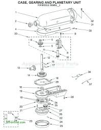 Kitchen Aid Blender Parts Artisan Mixer Diagram Classic Repair Manual