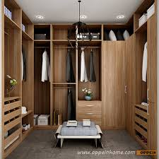 yg16 m09 u shaped wood grain walk in closet of best design