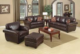 Brown Living Room Decorations by Casual Leather Sofa Set For Living Room Designs Ideas U0026 Decors