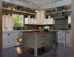 Wellborn Forest Cabinet Construction by Pressroom Versatility In A Tri Colored Kitchen