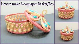 How To Make Newspaper Basket Box