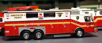 100 Code 3 Fire Trucks My Diecast Truck Collection EOne FDNY Heavy Rescue 1