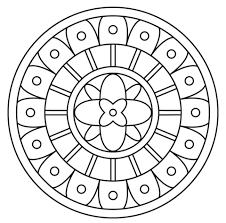 Click To See Printable Version Of Mandala With Abstract Pattern Coloring Page