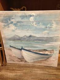 Pallet Painting Art Beach Canvas Pyrography Ideas Coastal Nautical Ocean Oil Paintings