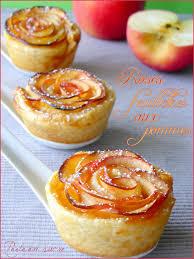 recette dessert aux pommes roses feuilletées aux pommes perle en sucre