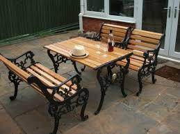 fabulous iron and wood garden bench diy how to restore a cast iron