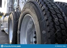 100 Big Truck Big Tires Rig Semi With Huge Wheels With Stock Photo Image